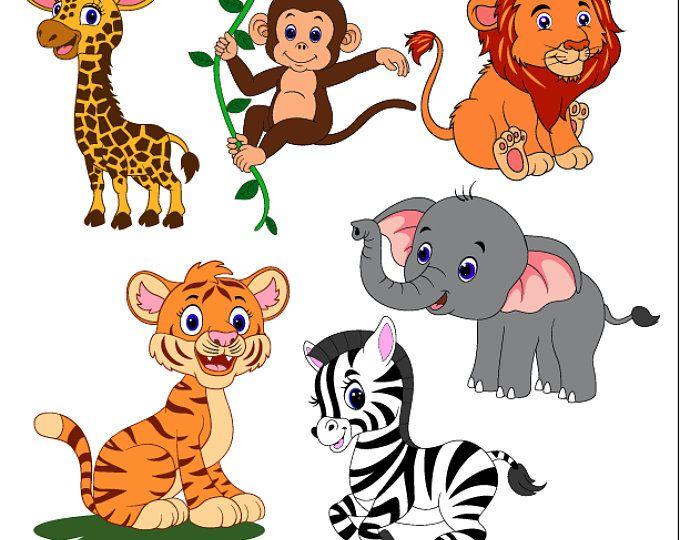 Safari Animals Svg Safari Friends Zoo Animals Svg Animal Theme Etsy Safari Animals Animal Nursery Theme Cute Baby Animals