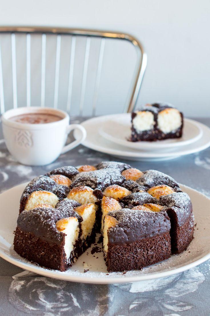 SUGARTOWN: Čokoládový koláč s kokosovými kuličkami/Cocoa cake with coconut balls