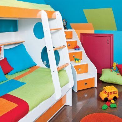 Festival des couleurs pour la chambre d'enfant - Chambre  - Inspirations - Décoration et rénovation - Pratico Pratiques