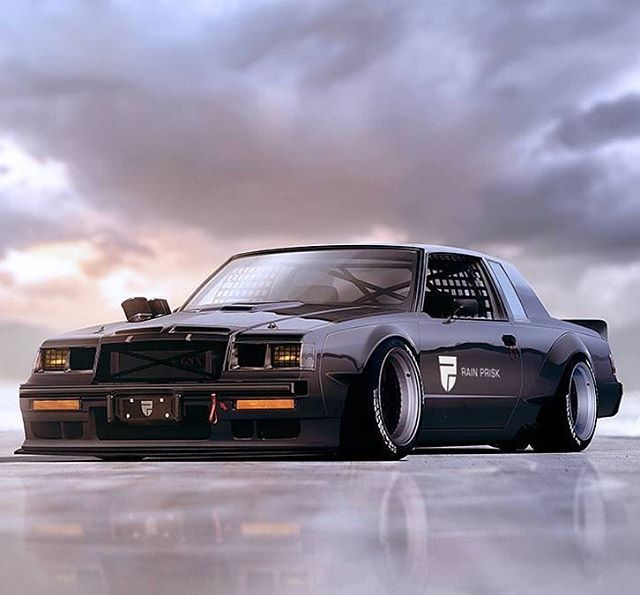 Insane Buick GNX rendering by @rainprisk #Buick #GNX #SpeedSociety