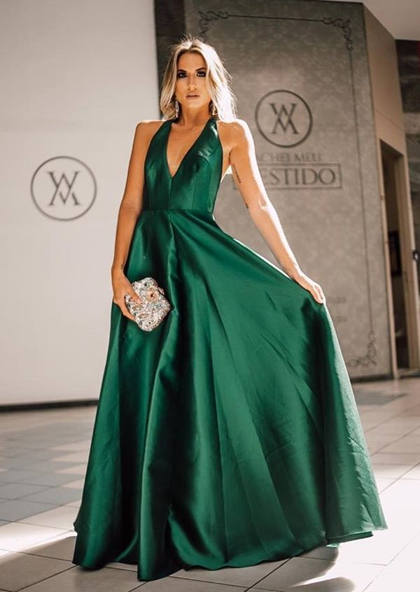 Fotos de vestidos de formatura verde esmeralda