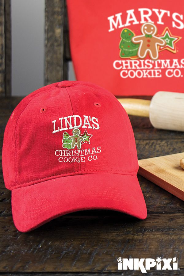 77aade265b6d8 Are you ready whip into the holiday spirit  Try out our custom Christmas  Cookie Company hat.  inkpixi  personalizedgifts  christmas  cookies  family