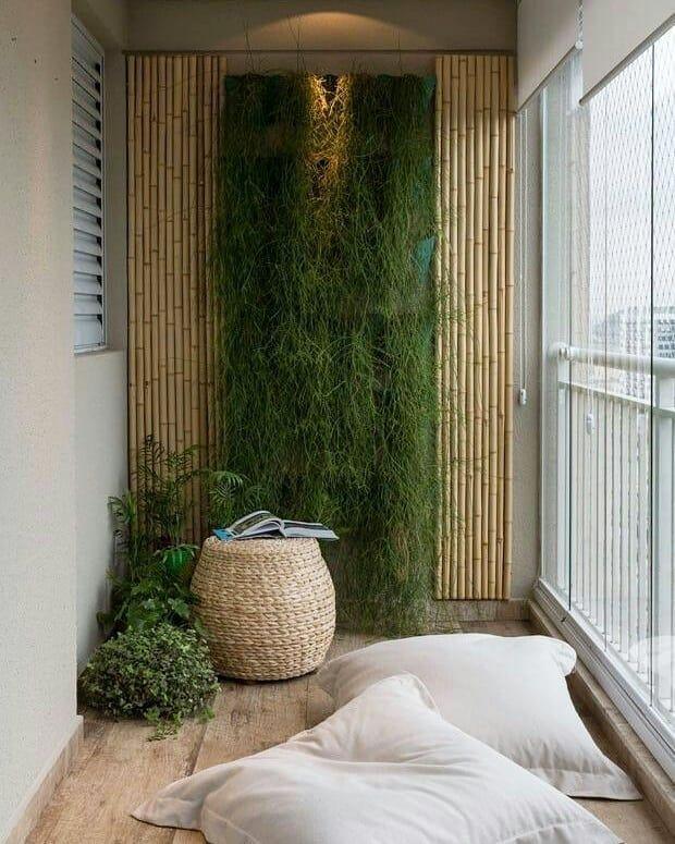 Buenos Dias Miren Este Balcon Jardin Vertical Detalles En Bambu