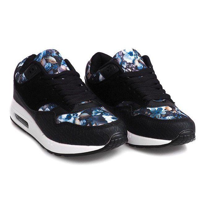 Buty Sneakersy Kwiaty R 50 Czarny Czarne Sneakers Sport Shoes Shoes Sneakers