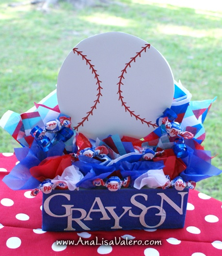 Baseball Party Centerpiece or Cake Table Decor