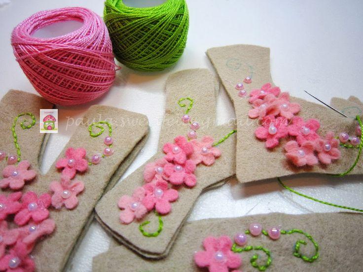 ♥♥♥ Lyna ...    .Para o quartinho da Lyna, com flores e borboletas como ela gosta!