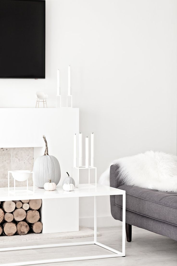 By Lassen Kubus Bowl & Kubus 4 & Kubus Line from Made Modern | Grey Pumpkins | Grey Sofa | Normann CPH Form Chair