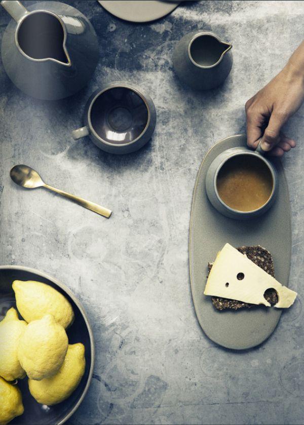 Cheese / Coffee / Rugbrød / Lemon