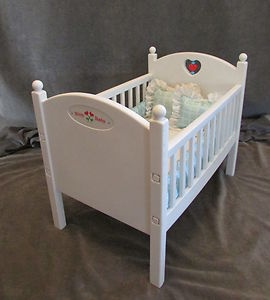 Crib Bitty Baby Matress Bumper Pillows White Bed American