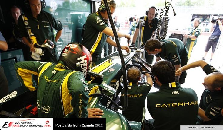 team Caterham in their garage | 2012, image © LAT Photographic