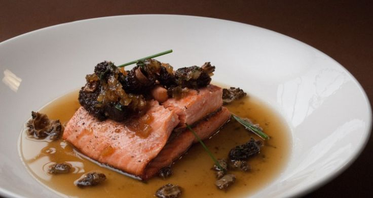 Trout with Maple Morel Jam http://gustotv.com/recipes/dinner/trout-with-maple-morel-jam/