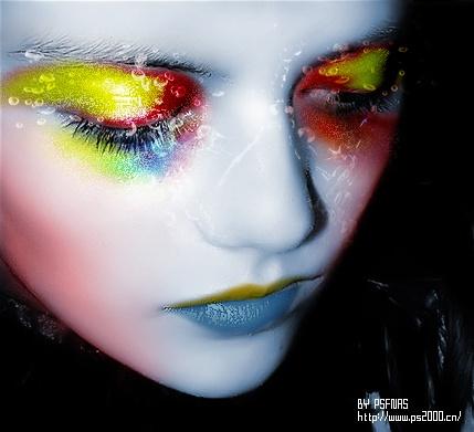 Art makeup - omdat make-up net zo goed een kunstvorm is en de fotografie en uitvoering van de visagie net zoveel waarde in de kunst zouden moeten hebben als modefotografie of installaties.