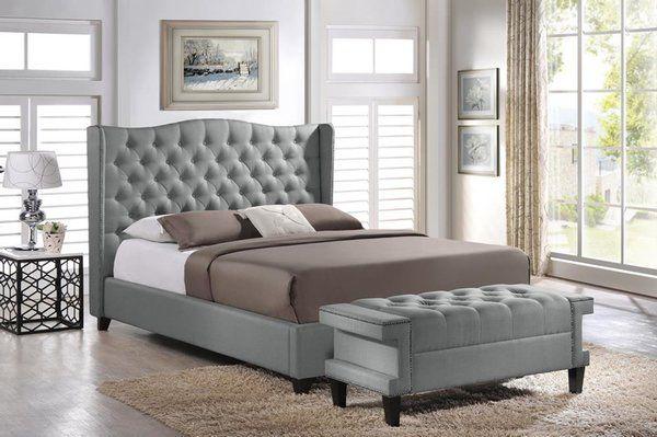 BBT6344 Norwich Linen Modern Bed w/ Bench | 599Furniture.com Ashley Furniture Homestore