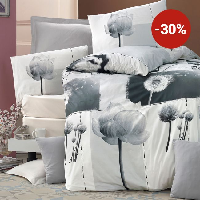 Lenjerie de pat din bumbac Valentini Bianco VKR10 Florence