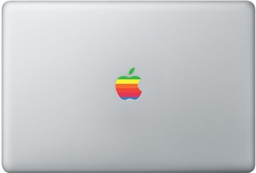 Shoply.com -Apple rainbow logo for macbook (fits any macbook). Only $3.90