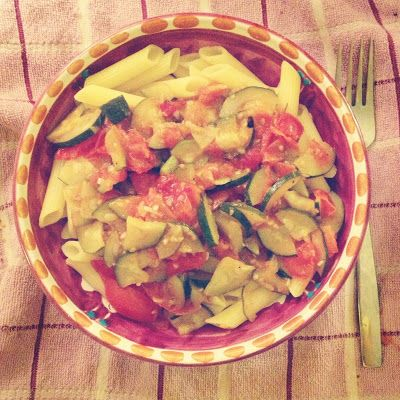 Foodolina: Corn Penne with Cherry Tomatoes and Courgettes  (G...