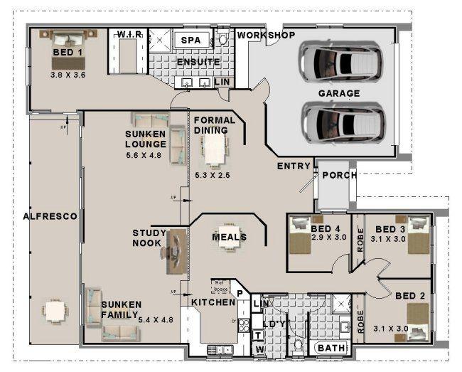 Sensational 4 Bed Split Level Architectures 4 Bedroom House Plans Beutiful Home Inspiration Xortanetmahrainfo