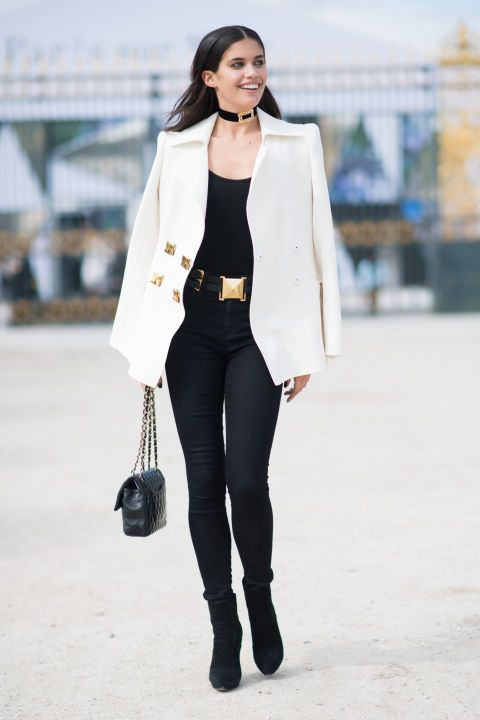 Sara Sampaio's chic monochrome street style look is one to emulate.