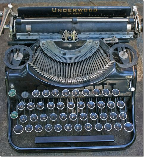 I remember typing on a manual typewriter in Grade Eight Typing class. Inevitably, a wrong key would be struck and since erasures weren't allowed, I had to start all over again.