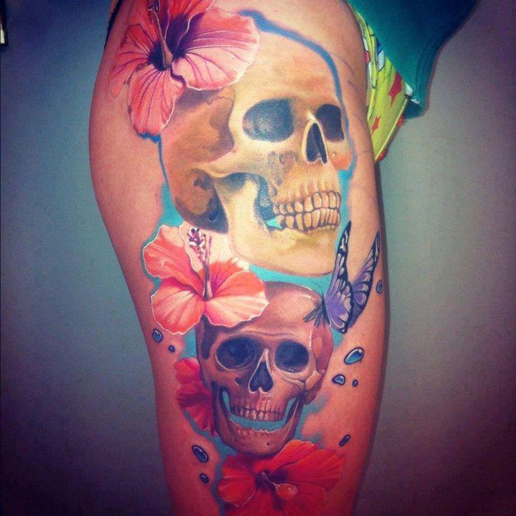Top 42 ideas about tatouage femme cuisse on pinterest sexy roses and tattoo roses - Tatouage autour de la cuisse ...
