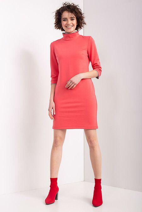 2870d7d0303 Трикотажное платье ROLL S в спортивном стиле кораллового цвета Garne ...