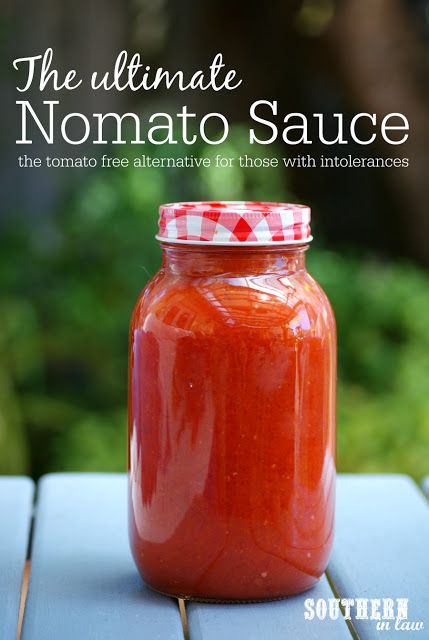 The Ultimate Nomato Sauce Recipe - tomato free, nightshade free, tomato intolerance, nightshade intolerance, gluten free, vegan, egg free, dairy free, nut free, allergy friendly recipes