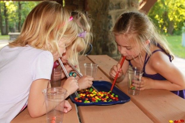 This looks so fun! Party Game Idea: Skittles Candy Vacuum Party Game