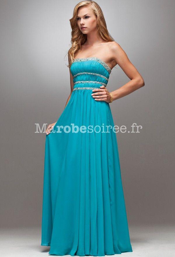Robe bleue turquoise pas cher