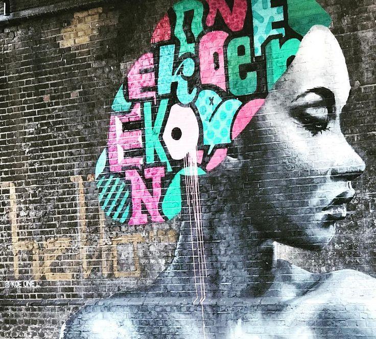 #london #murals #muralart #murales #nunhead #walking #instaartist @koeone_