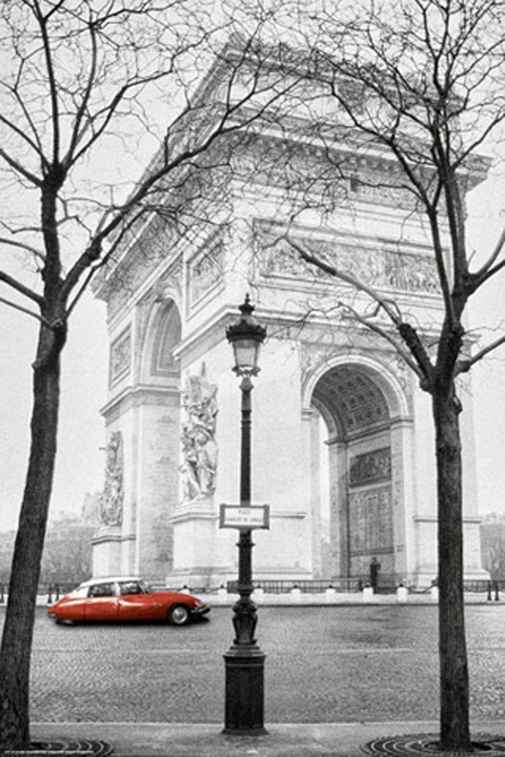Empire 347701 Paris Larc de Triomphe Citroen Oldtimer Poster Druck - 61 x 91.5 cm: Amazon.de: Küche & Haushalt