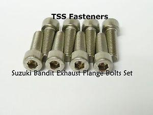 Suzuki GSF600/GSF1200/GSF1250 Bandit Exhaust Flange Bolts Set - Stainless Steel