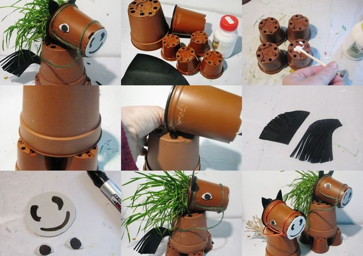 Ideas for each plastic DIY - Joanna Wajdenfeld: Horses with pots