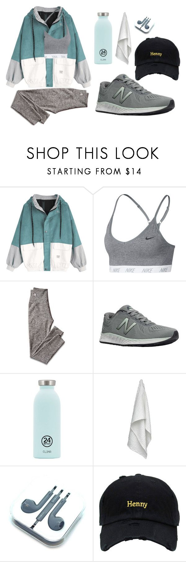 """""""Untitled #504"""" by mihaelamarula on Polyvore featuring NIKE, Mark & Graham, New Balance, 24Bottles and The Organic Company"""