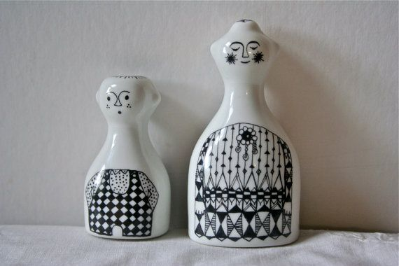 Vintage Arabia Finland Salt Pepper by blueflowervintage on Etsy