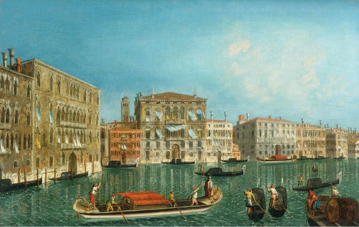 Микеле Мариески (1710 - 1743). Венеция. Гранд канал, дворцы Фоскари и Бальби