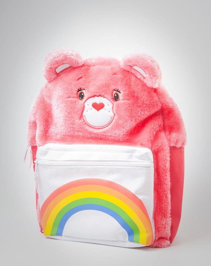 Cheer Bear plush backpack from spencersonline.com