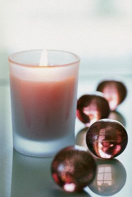 pink candle.