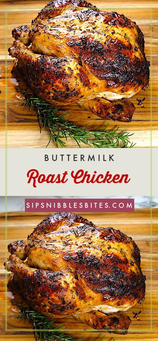 Buttermilk Roast Chicken Recipe Roast Chicken Recipes Poultry Recipes Recipes