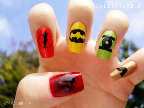 DC Comics Superheroes Nails - 50 Mind Blowing Designs of Nail Art - 23 Best Superhero Nails Images On Pinterest Superhero Nails