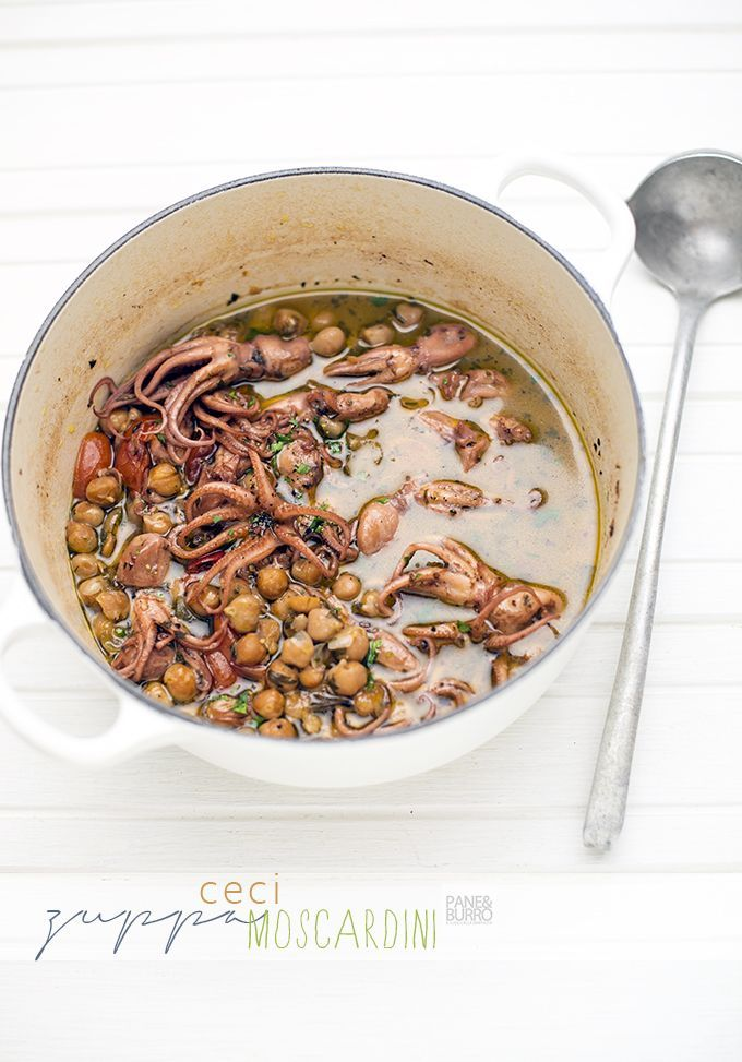 spicy chickpea and octopus soup