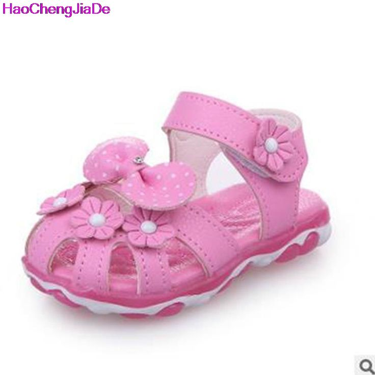 >> Click to Buy << HaoChengJiaDe Girls Elsa Pink Sandals 2017 New Baby Flowers Shoes With Led Light Breathable Summer Children Princess Kids Shoes #Affiliate