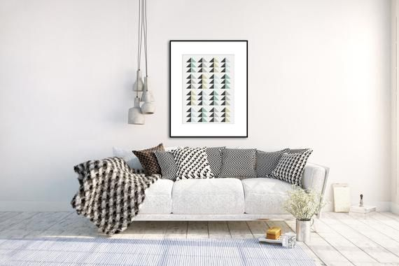 Posters In Interieur : Vintage poster scandinavian art nordic style poster forest