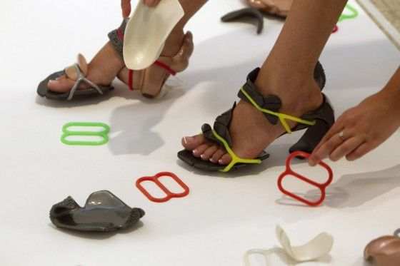 weird but cool concept... high heels with interchangeable parts made of recycled plastic. Mix'n Match?
