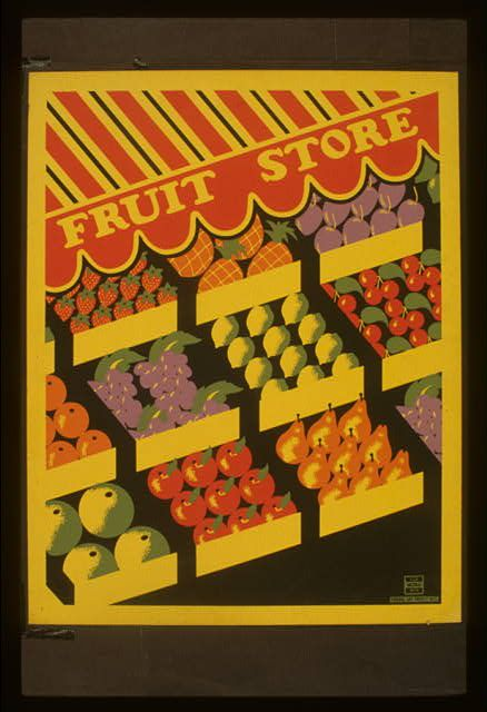 WPA post from the Library of Congress. Doesn't it make you want to go to the farmer's market? #ridecolorfully