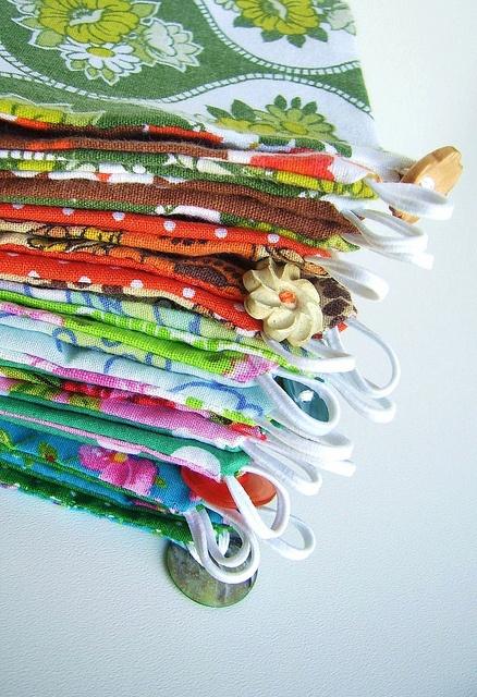 pile of fabric napkin holders, via Flickr.