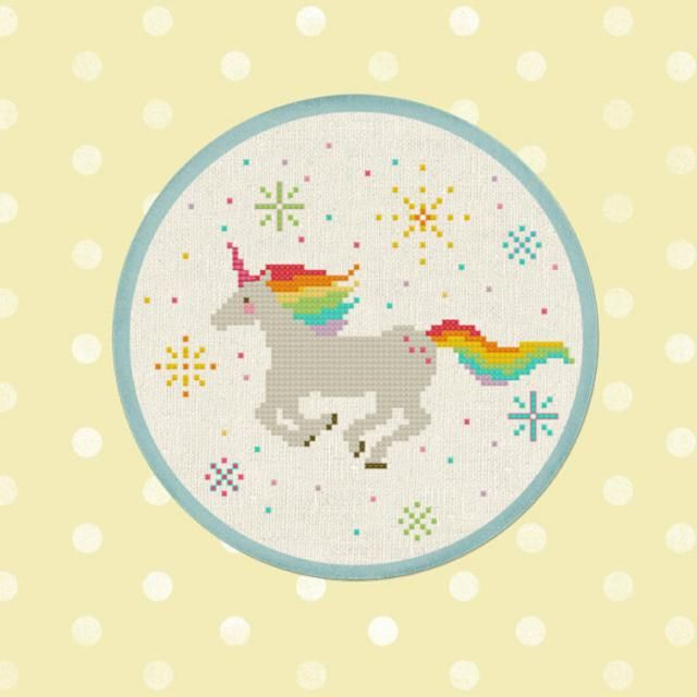 For purchase unicorn cross stitch patterns that will fill your day with rainbows and sunshine.