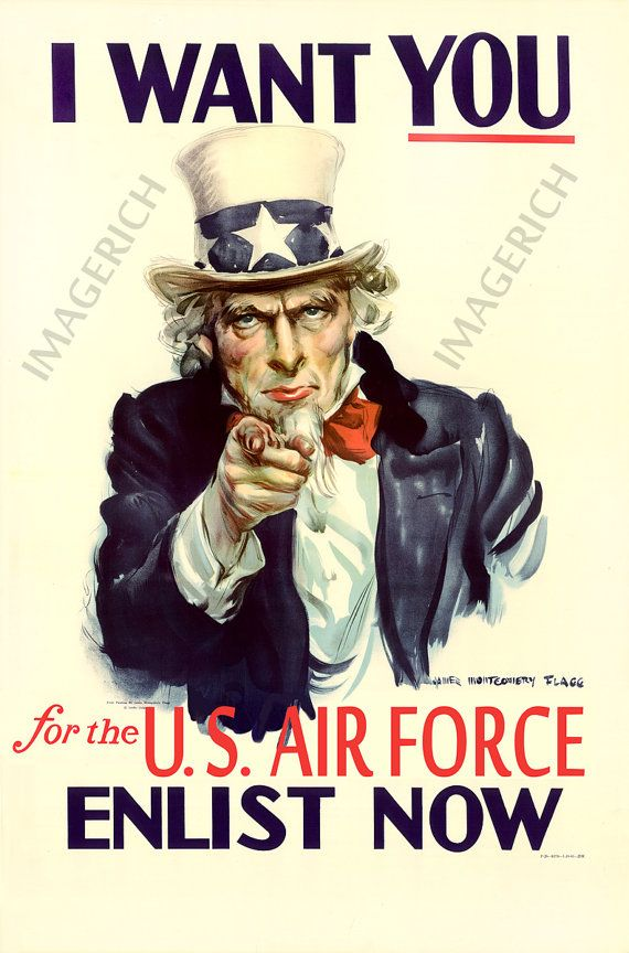 """World War II Poster of  Uncle Sam """" I Want You  For the Air Force """" only one I've seen. https://www.etsy.com/listing/103216082/world-war-ii-poster-uncle-sam-i-want-you  #ww1#Iwantyou#air force"""