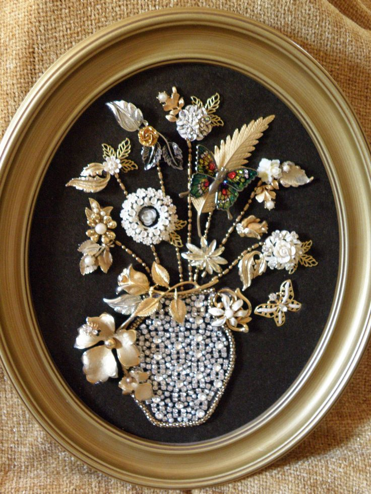 Vintage Jewelry Flower Vase