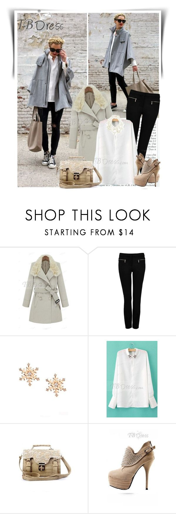 """""""TB Dress"""" by dalila-mujic ❤ liked on Polyvore featuring Forever New, Kenneth Jay Lane and tbdress"""