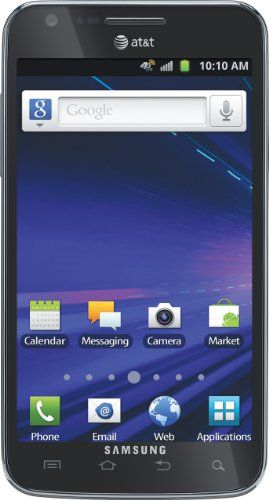 Samsung Galaxy S II Skyrocket 4G Android Phone, Black (AT).  The build quality is great, even though it is plastic. This is a great phone, The phone itself looks beautiful and feels great, the weight is also good it doesn't feel to light